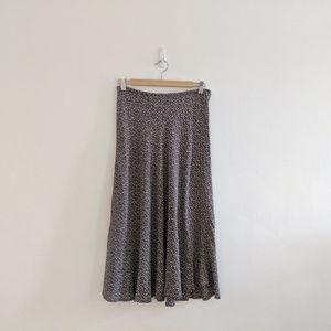 Vintage Ditsy Floral Circle Midi Skirt